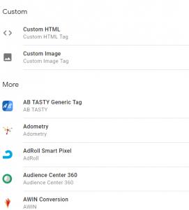 Google Tag Manager - Set Custom Tags