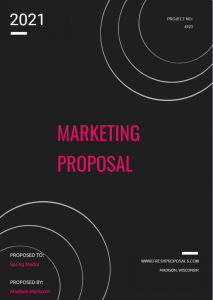 Sample Marketing Proposal Cover Page 2