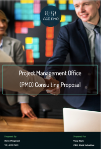 Project Management Consulting Proposal Cover Page