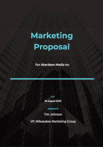Marketing Proposal Cover 3