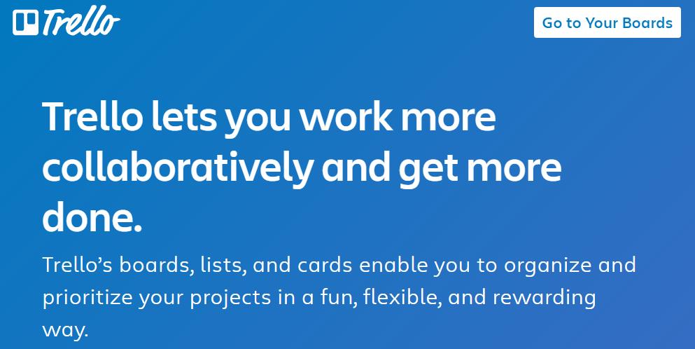 trello helps you organize your tasks