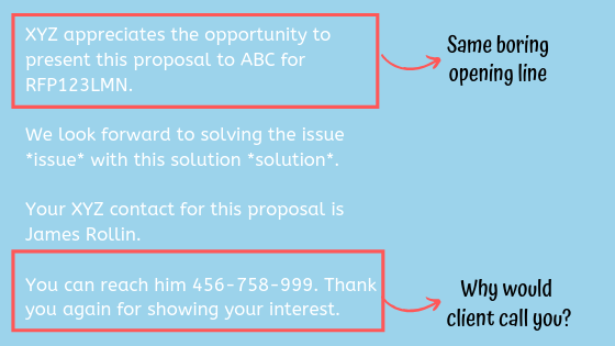 dull example of proposal cover letter vs executive summary