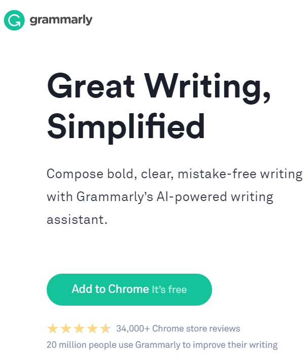 Grammarly is a writing assistant ahich helps you in content writing