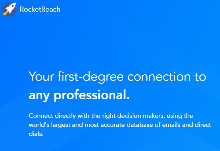 Rocket Reach is a lead generation tool