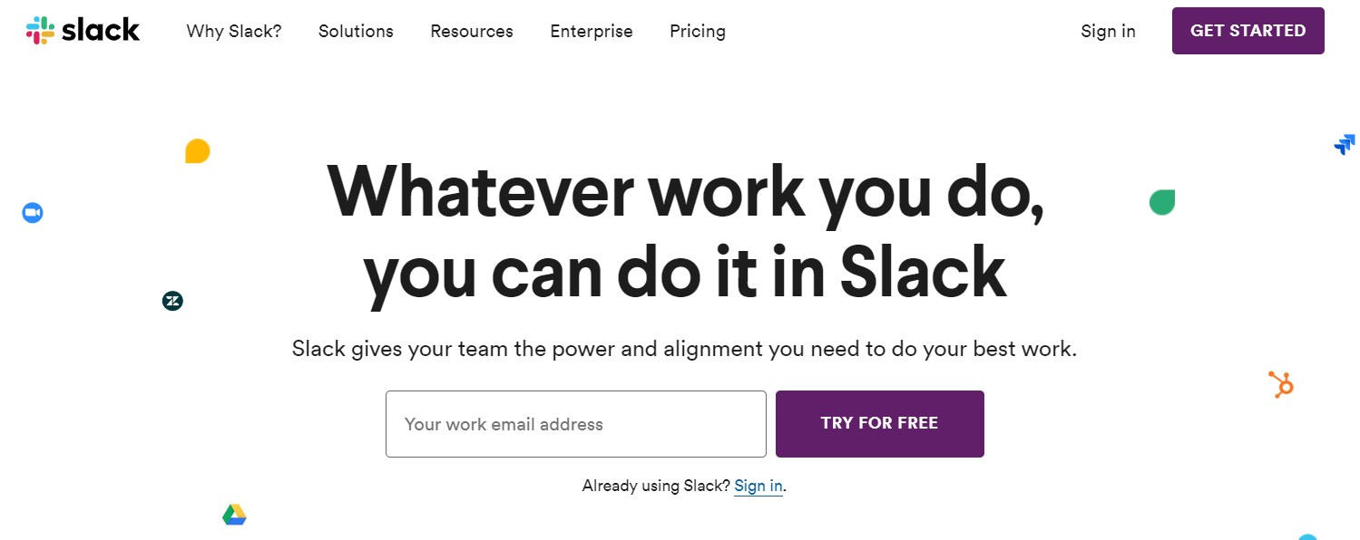 Slack is messaging tool used by teams for official discussion