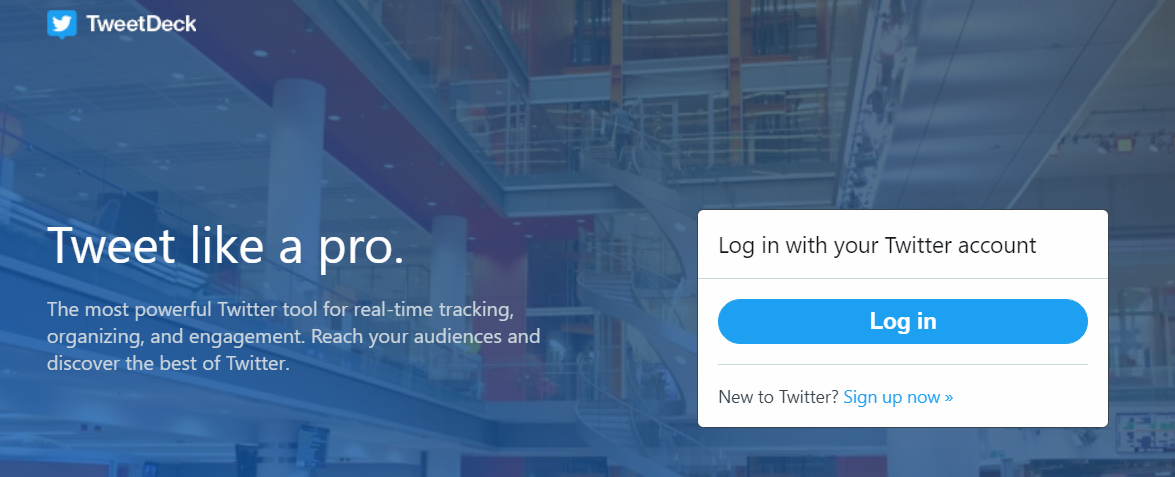 Tweet deck is tool which helps you to manage multiple twitter accounts