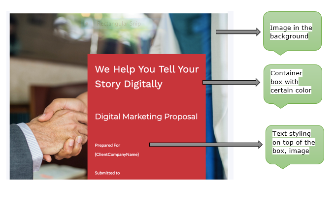 headings and subheading are essential in designing and formatting sales proposal