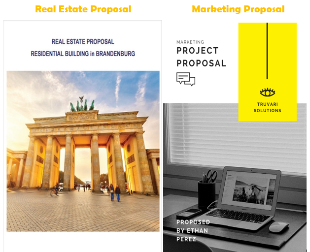 the look of each sale proposal template is different