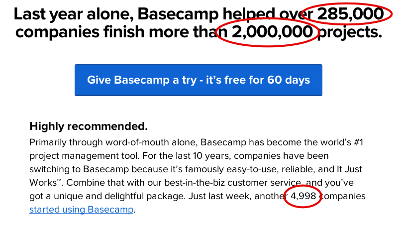 basecamp promotion with a sense of urgency