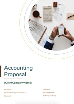Accounting Proposal Template - Cover Page