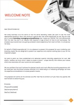 Branding Proposal Template - Cover Letter