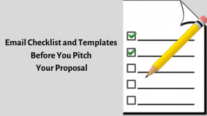 Email checklist for sales proposals