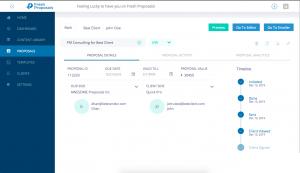 Fresh Proposals Software - Proposal Status