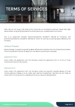 Coworking Workplace Proposal Template - T&C