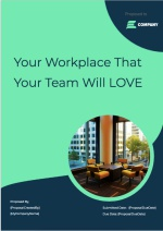 Coworking Space Proposal Template - Cover Page