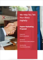 Digital Marketing Proposal Template - Cover Page