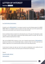 Architecture Proposal Template - Letter of Interest