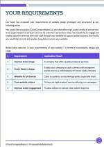 Website Design Proposal Template - Requirements