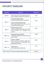 Website Design Proposal Template - Timeline