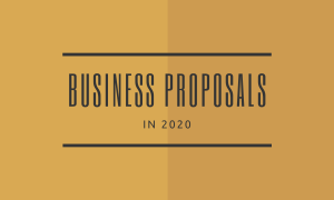 Business Proposal in 2020