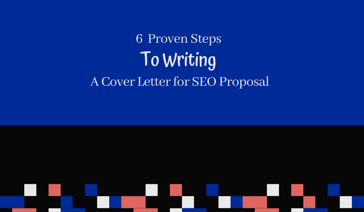 Write a Cover Letter for SEO Proposal