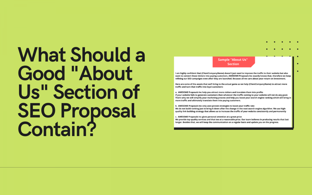 A Critical Review of SEO Proposal's About Us Section