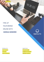 Google Adwords Proposal Template - Cover Page