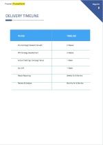 Google Adwords PPC Proposal - Timeline