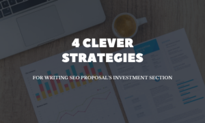 investment section for seo proposal