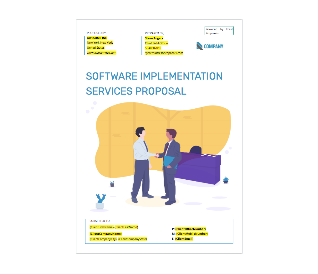 Fresh Proposals - IT Services Proposal Template